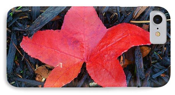 Red Autumn Leaf IPhone Case