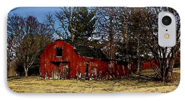 Red Barn Amongst Trees IPhone Case