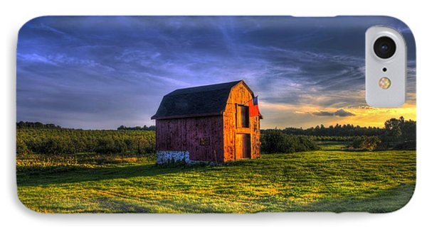 Red Barn Autumn Sunset IPhone Case