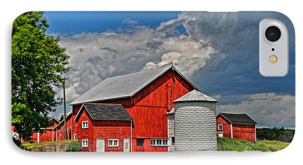 Red Barn White Silo IPhone Case