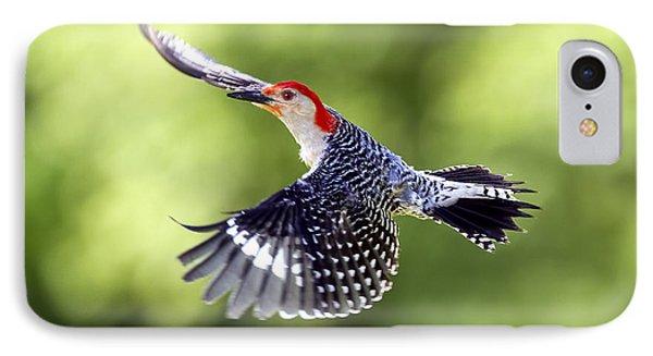 Red-bellied Woodpecker Flight IPhone Case