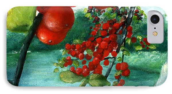 Red Berry Tree On Louisiana Pond IPhone Case