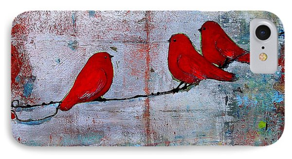 Red Birds Let It Be IPhone Case
