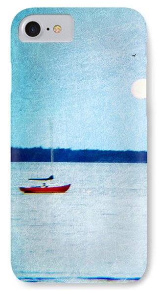 Red Boat Big Moon IPhone Case
