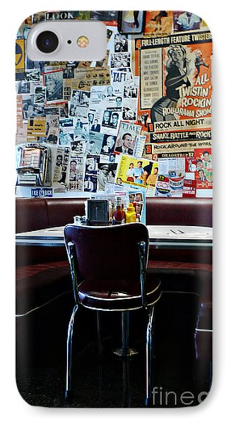 Red Booth Awaits In The Diner IPhone Case