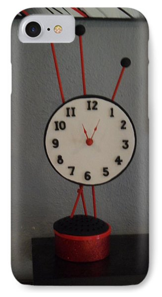 Red Clock IPhone Case