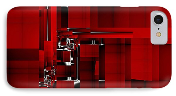 Red Construction I IPhone Case
