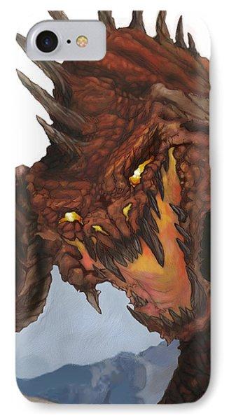Dungeon iPhone 8 Case - Red Dragon by Matt Kedzierski