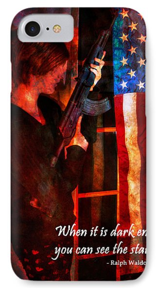 Red Girl With Ak-47 - Motivational Poster IPhone Case