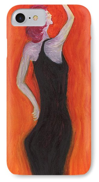 Red Haired Lady IPhone Case