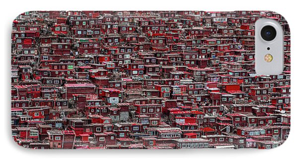 Red Houses IPhone Case