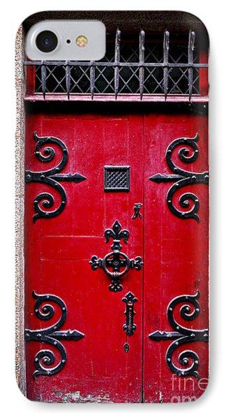 Red Medieval Door IPhone Case