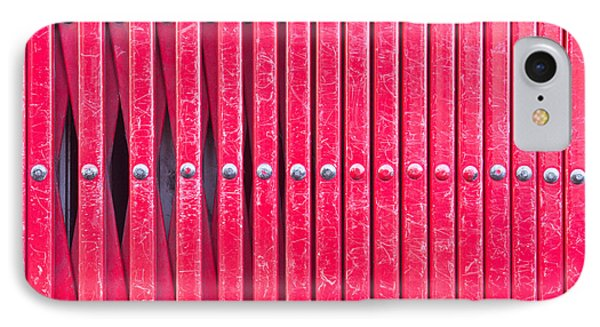 Red Metal Bars IPhone Case