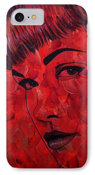 Red Pop Bettie IPhone Case