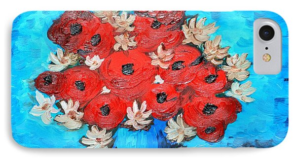 Red Poppies And White Daisies IPhone Case
