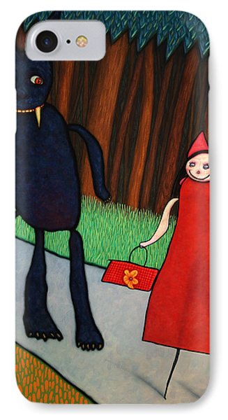 Fairy iPhone 8 Case - Red Ridinghood by James W Johnson