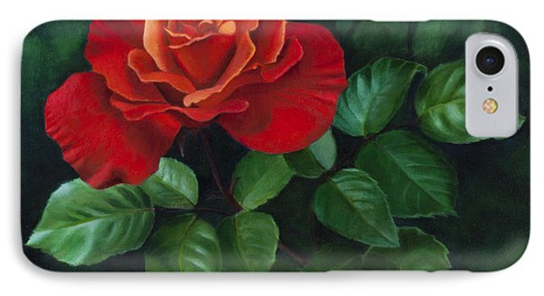 Red Rose - Oil Painting On Canvas IPhone Case