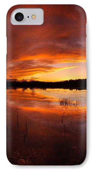 Red Sunset Over Massabesic Lake IPhone Case