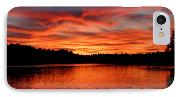 Red Sunset Reflections IPhone Case
