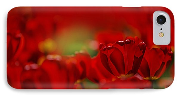 Tulip iPhone 8 Case - Red Tulips by Nailia Schwarz