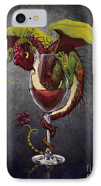Dragon iPhone 8 Case - Red Wine Dragon by Stanley Morrison
