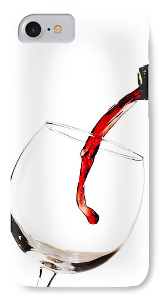 Red Wine Poured Into Wineglass IPhone Case