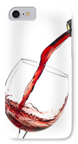 Red Wine Pouring Into Wineglass Splash IPhone Case