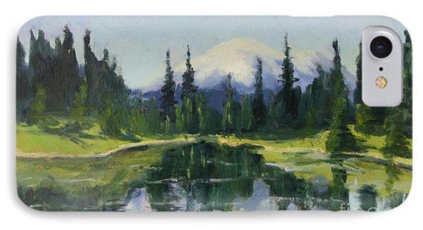 Reflecting Mt. Rainier IPhone Case