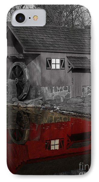 Reflection Of Red Mill IPhone Case