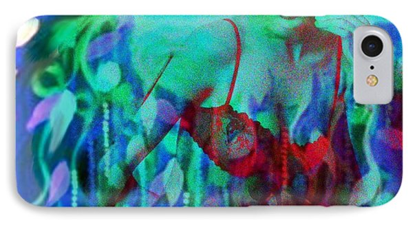 Reflections In Floral And Red IPhone Case