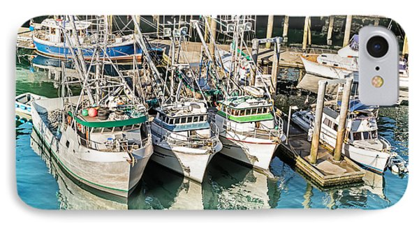 Reflections Of Fishing Boats IPhone Case