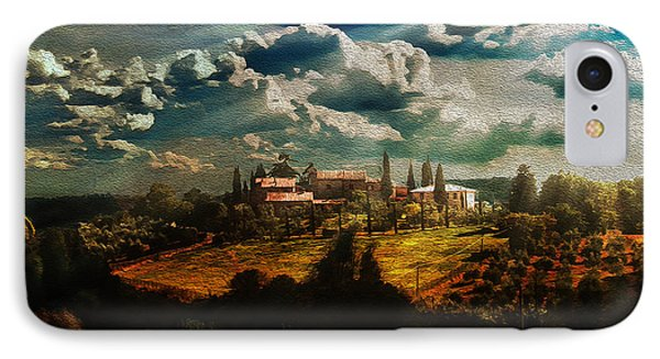 Renaissance Landscape With Power Lines IPhone Case