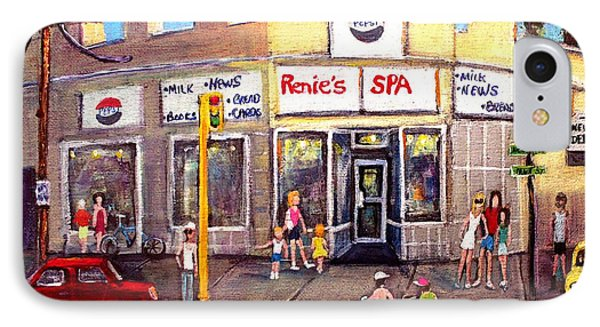 Renie's Spa In Summertime IPhone Case