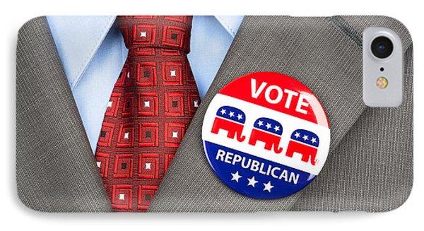 Republican Vote Badge IPhone Case
