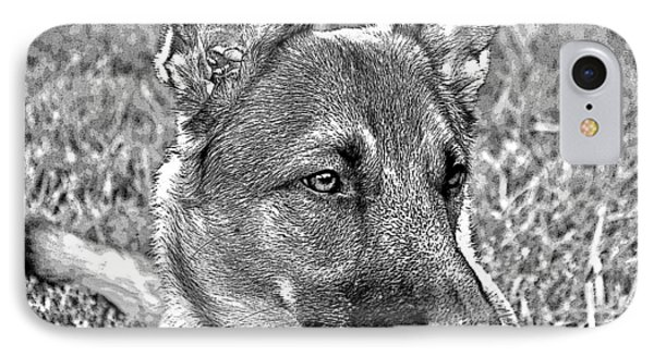 Rescued Belgian Malinois IPhone Case
