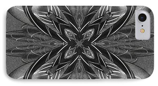 Resist The Flow Tile Print IPhone Case