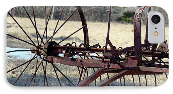 iPhone 8 Case - Retired Hay Rake by Mother Nature