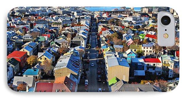 Reykjavik Cityscape Panorama IPhone Case