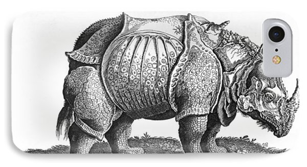 Rhinoceros No 76 From Historia Animalium By Conrad Gesner  IPhone Case