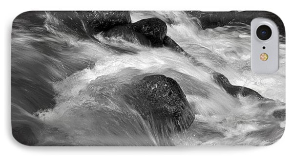 Ribbon Fall Creek Black And White IPhone Case