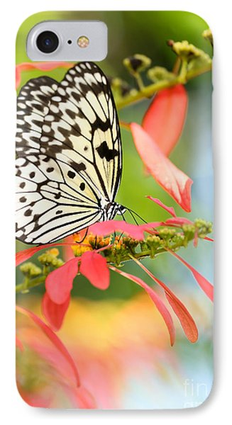 Rice Paper Butterfly In The Garden IPhone Case