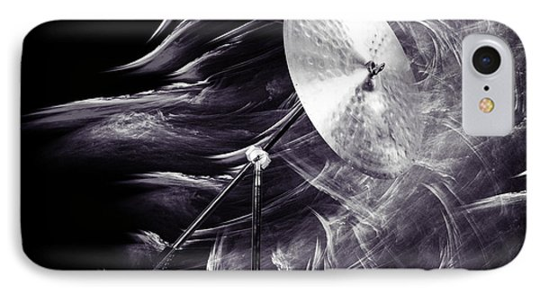 Ride Or Suspended Cymbal In Sepia 3241.01 IPhone Case