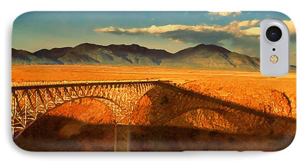 Rio Grande Gorge Bridge Heading To Taos IPhone Case