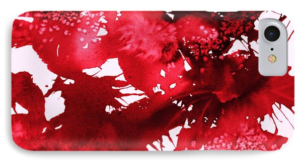 Riot Of Red Abstract IPhone Case