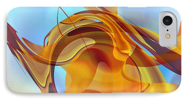 Rising Into Sky Blue Abstract IPhone Case