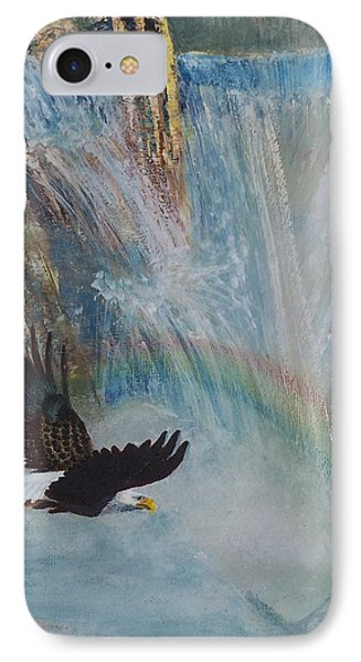 Rising Up With Eagle's Wings 2 IPhone Case