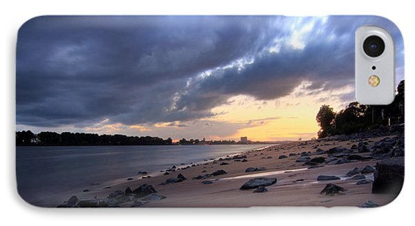 River Beach Sunset IPhone Case