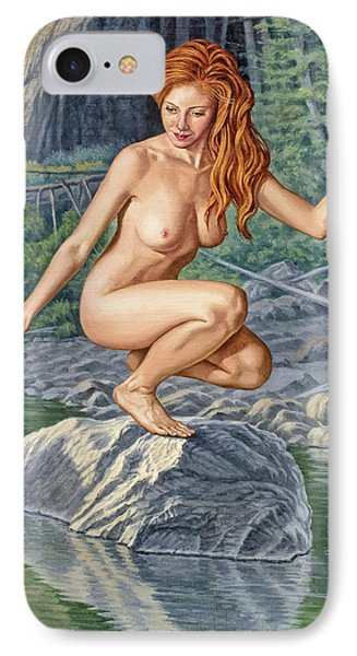 Nudes iPhone 8 Case - River Nymph by Paul Krapf