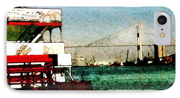 River Queen And Tallmadge Bridge Of Savannah IPhone Case