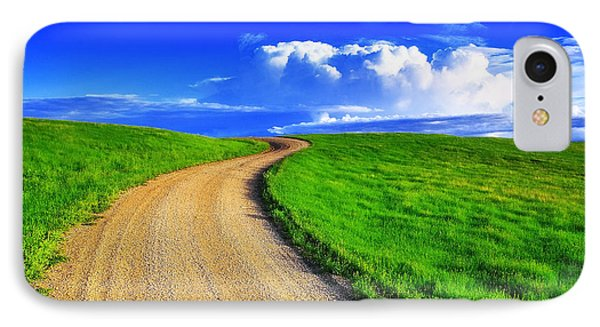 Rural Scenes iPhone 8 Case - Road To Heaven by Kadek Susanto